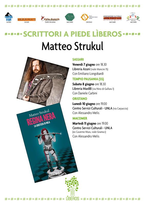 """Presentazione libro """"Regina nera. La giustizia di Mila"""" di Matteo Strukul. Martedì 11 Giugno, ore 19"""