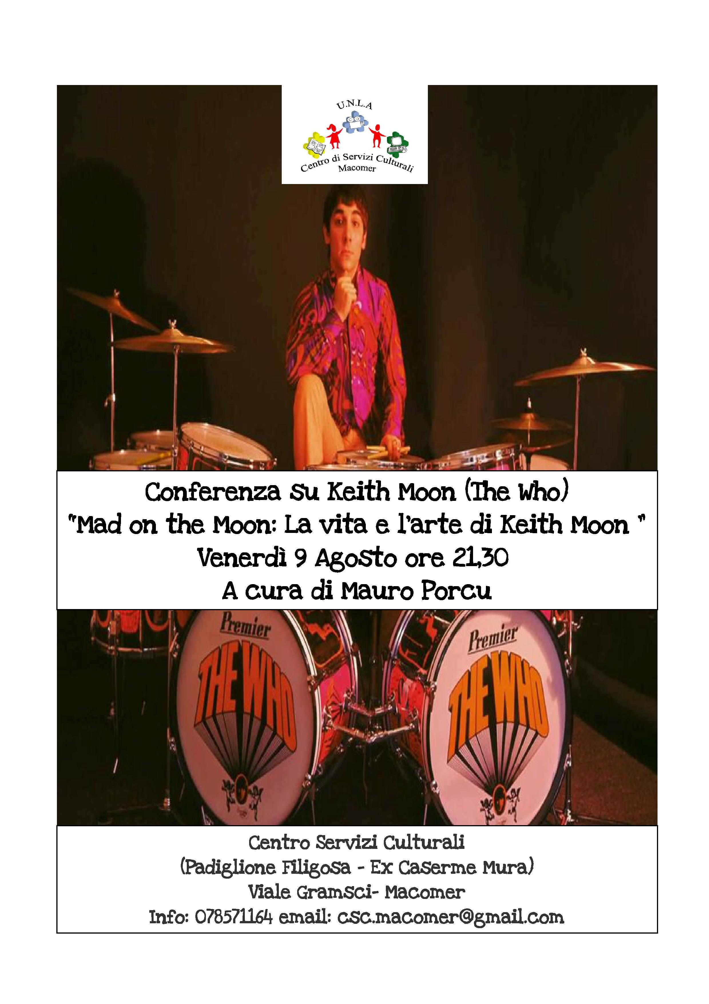 """Mad on the Moon: La vita e l'arte di Keith Moon"" a cura di Mauro Porcu"