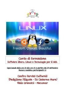 Corso gratuito su Linux, il Software libero e le Tecnologie per il web