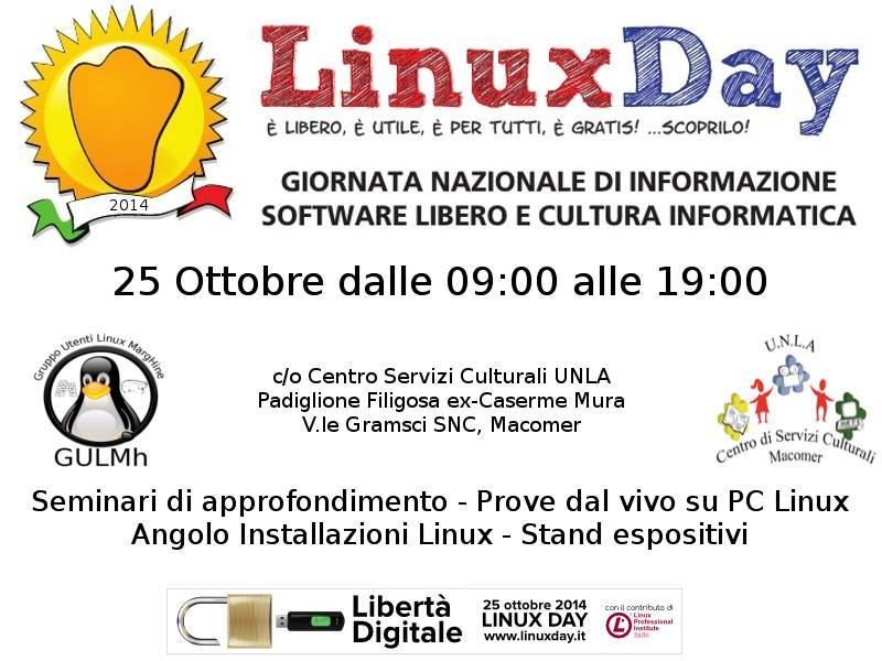 Linux Day. 25 Ottobre 2014