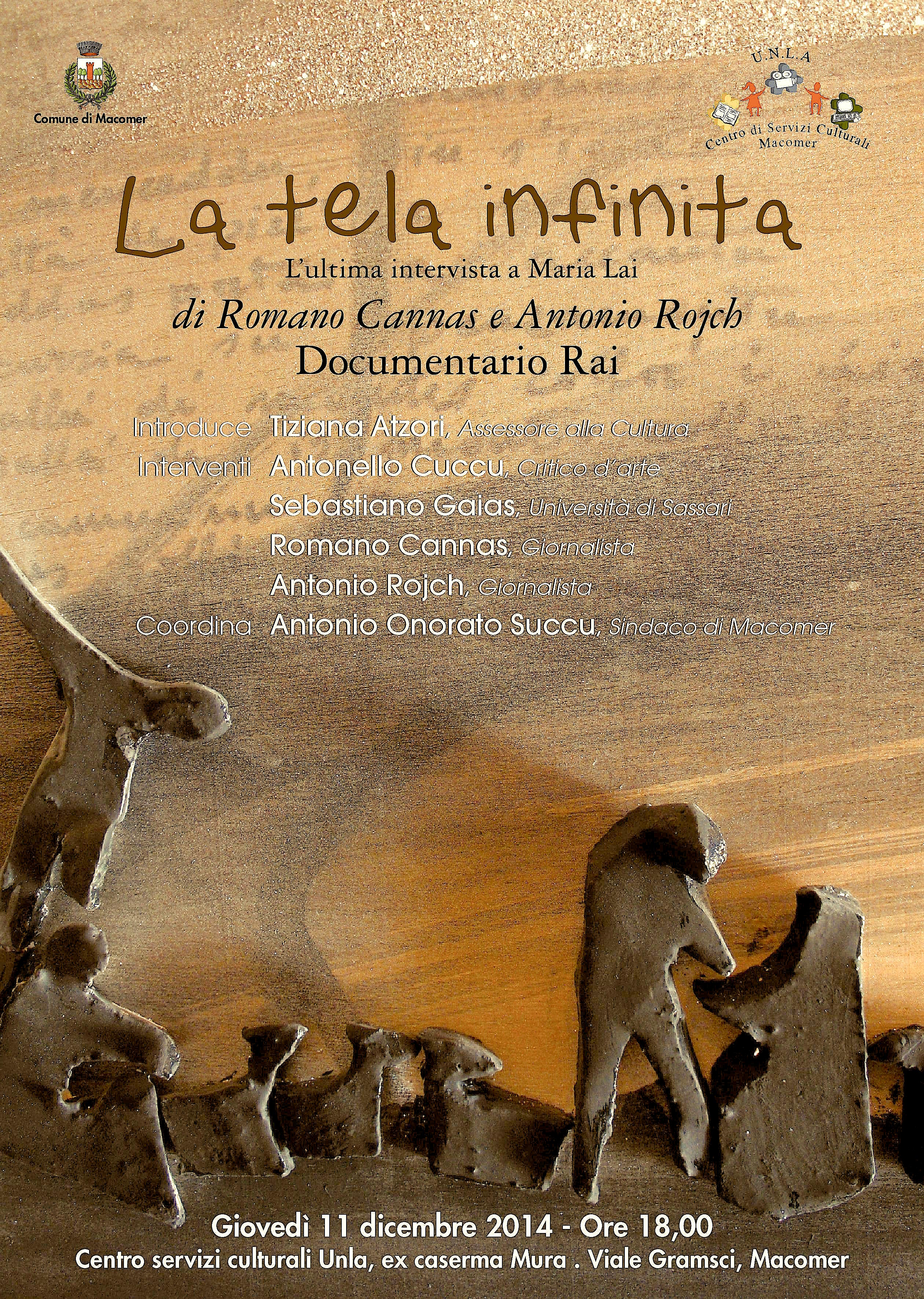 """""""La tela infinita"""" L'ultima intervista a Maria Lai di Romano Cannas e Antonio Rojch"""