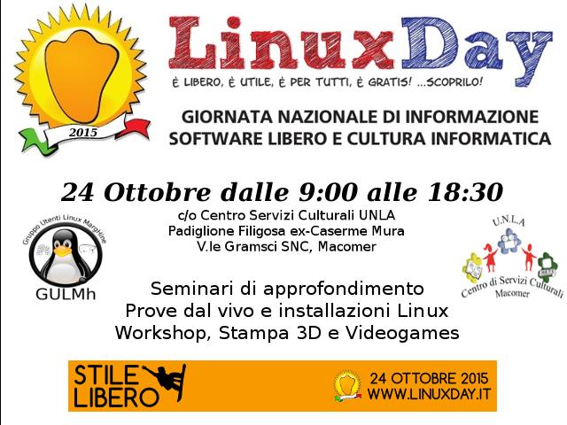 Linux Day al Centro! Sabato 24 Ottobre 2015