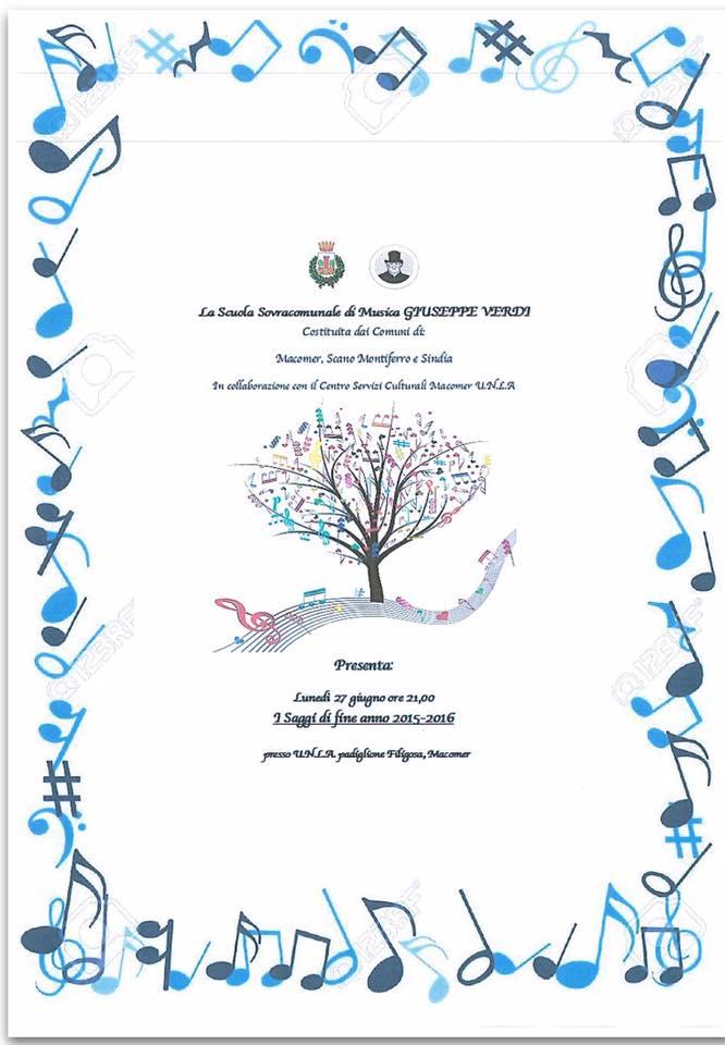 """Saggi finali Scuola Civica di Musica """"Giuseppe Verdi"""" 27 giugno ore 21"""