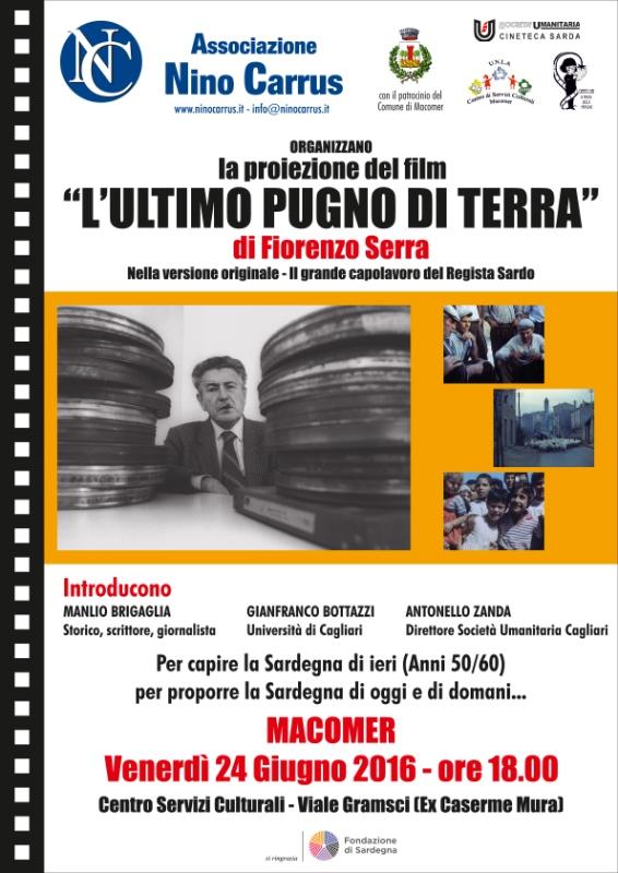 """""""L'ultimo pugno di terra"""" di Fiorenzo Serra. Venerdì 24 Giugno ore 18"""