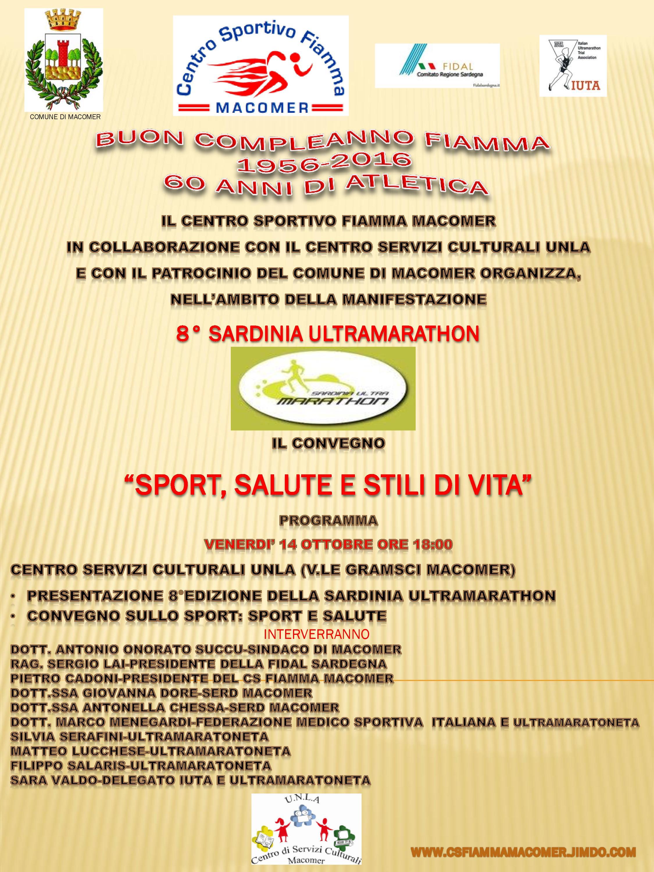 """Sport, salute e stili di vita"" Venerdì 14 Ottobre alle ore 18."