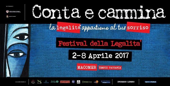 """Festival della Legalità in Sardegna """"Conta e Cammina. La legalità appartiene al tuo sorriso"""" 02 – 08 Aprile 2017"""