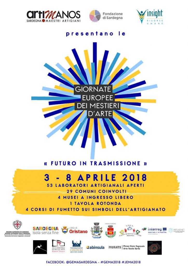 Le Giornate Europee dei Mestieri d'Arte. 3 – 8 Aprile 2018