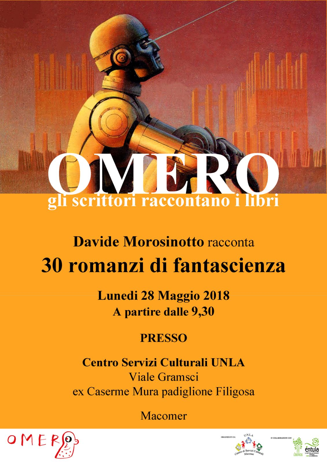 DAVIDE MOROSINOTTO racconta 30 Romanzi di fantascienza. Lunedì 28 Maggio a partire dalle 9:30
