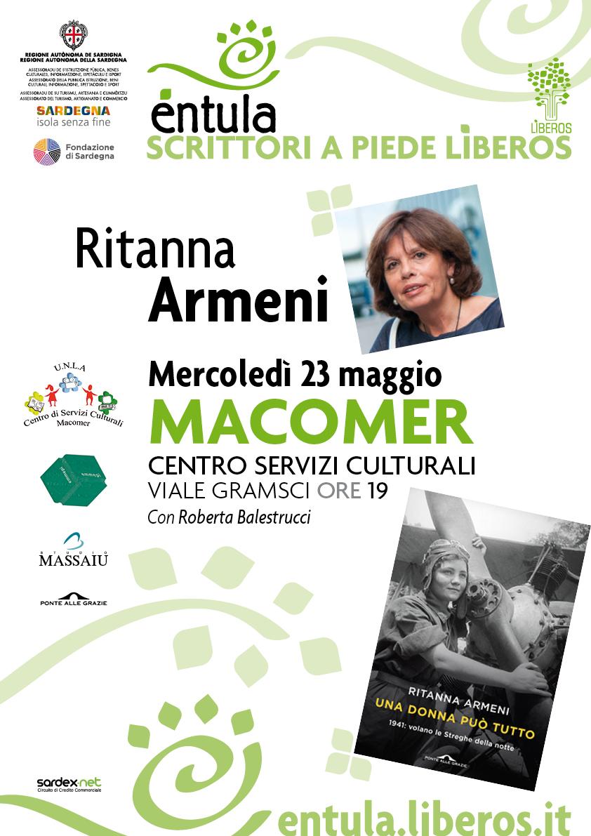 """Ritanna Armeni  """"Una donna può tutto"""" 23 Maggio ore 19"""