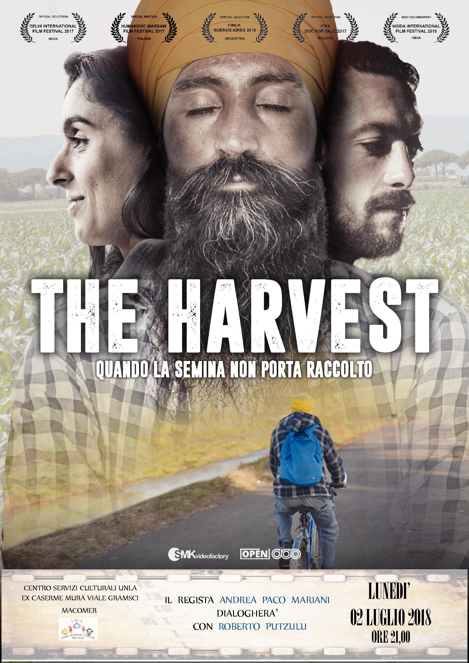 """Proiezione del film """"The Harvest"""" di Andrea Paco Mariani"""