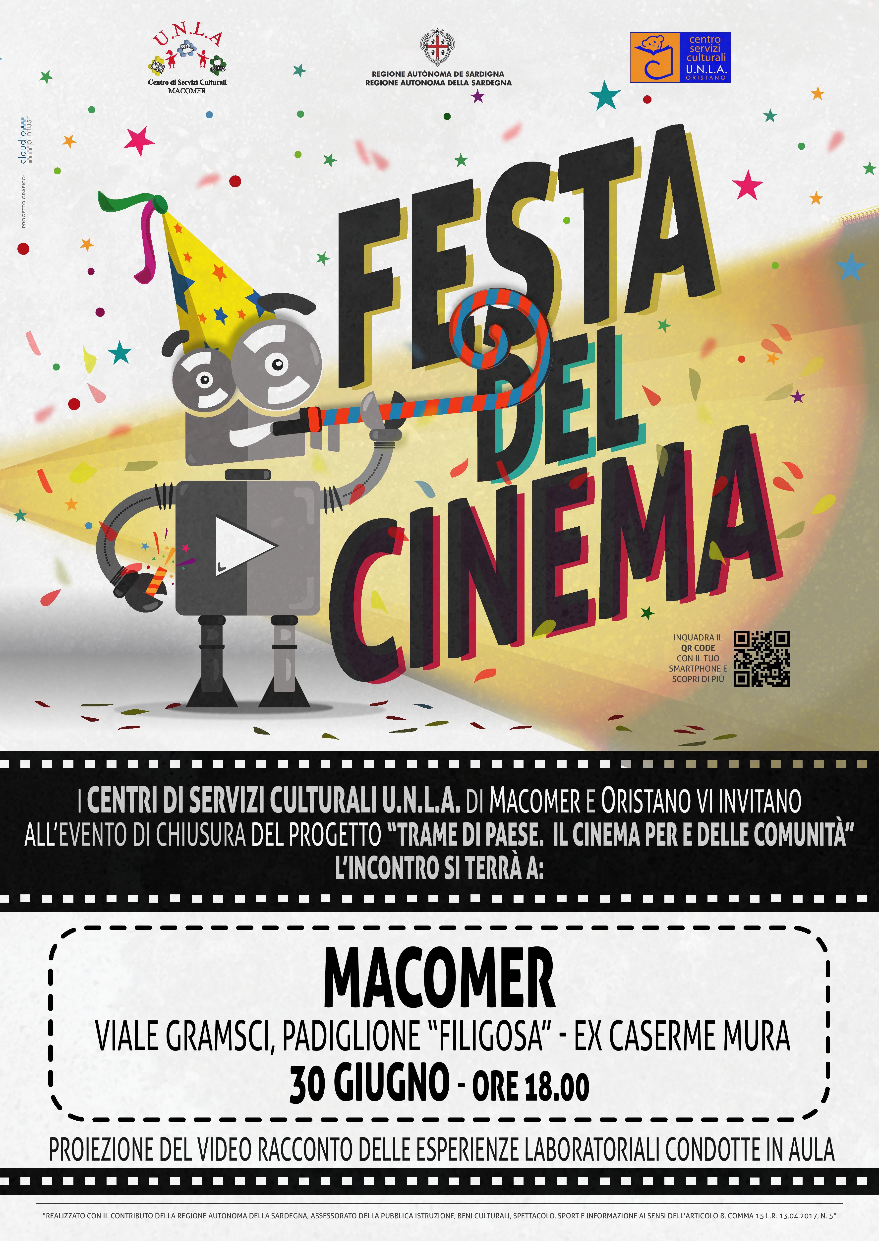 """""""Progetto Trame di Paese. Il Cinema per e delle Comunità. Festa del Cinema"""