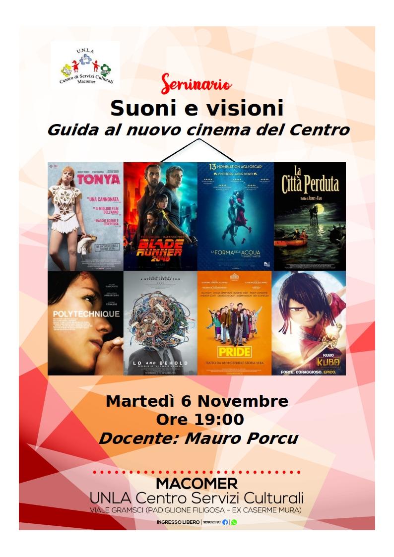 """""""Suoni e visioni. Guida al nuovo cinema del Centro"""" 6 Novembre ore 19"""