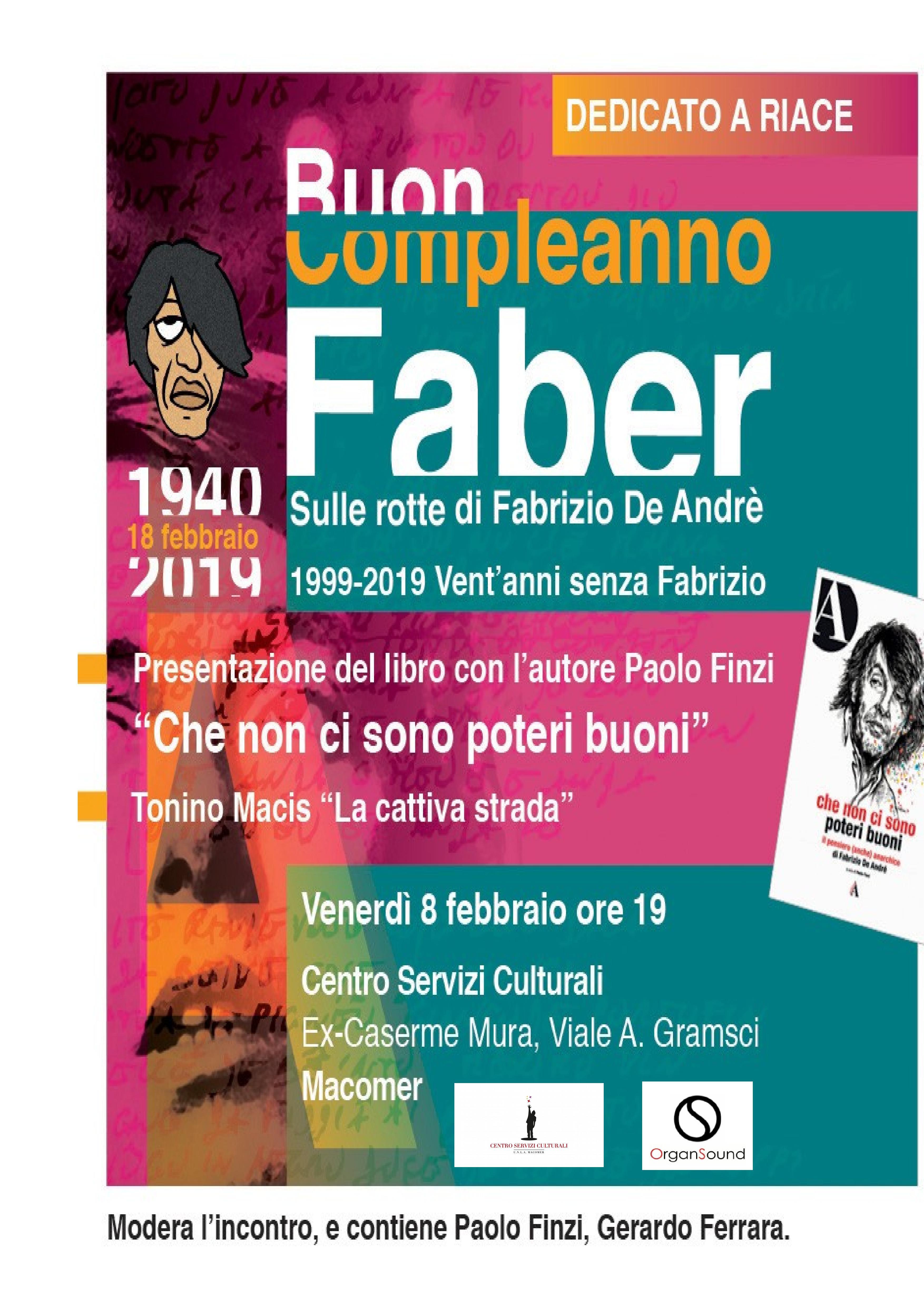 Buon compleanno Faber 2019 Venerdì 8 Febbraio ore 19