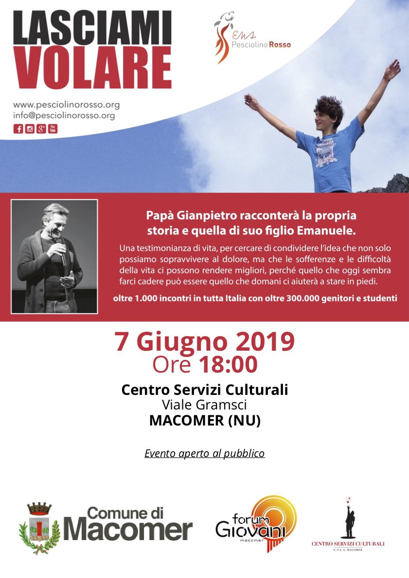 """""""Lasciami volare"""" di Gian Pietro Ghidini – Venerdì 7 Giugno ore 18"""