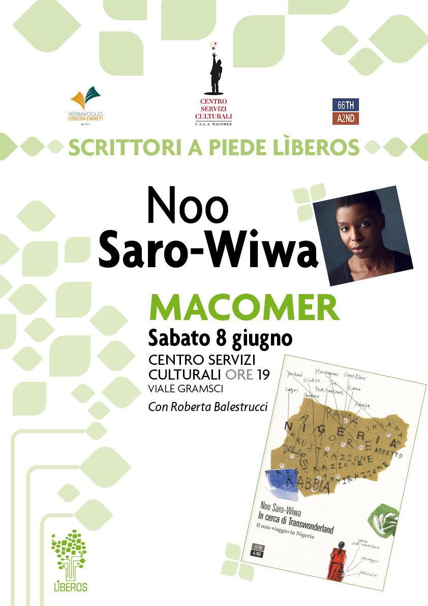IN CERCA DI TRANSWONDERLAND. Il mio viaggio in Nigeria di Noo Saro-Wiwa. Sabato 8 Giugno ore 19