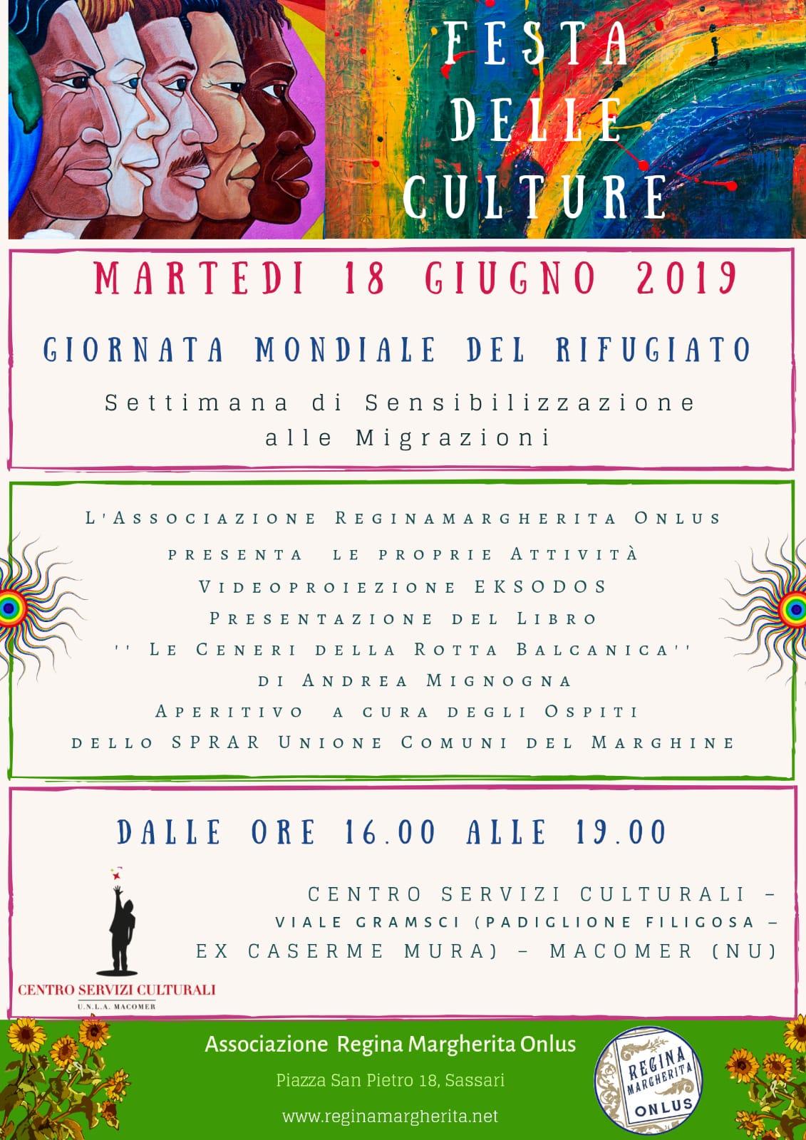 """""""Festa delle Culture"""" 18 Giugno ore 16:00"""