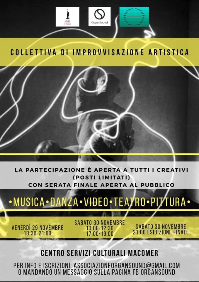 Collettiva di improvvisazione artistica. 29 – 30 Novembre 2019