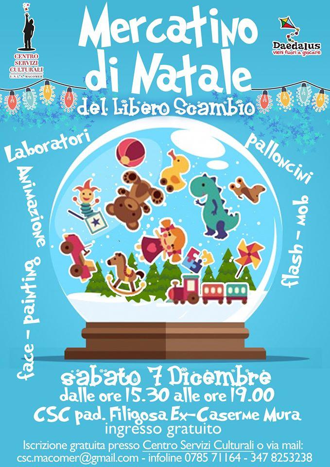 Mercatino di Natale del libero Scambio. 7 dicembre Ore 15:30 – 19:00