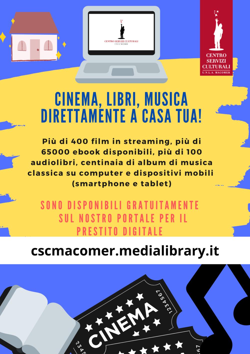 Prestito digitale: ebook, film, musica, audiolibri, quotidiani e riviste