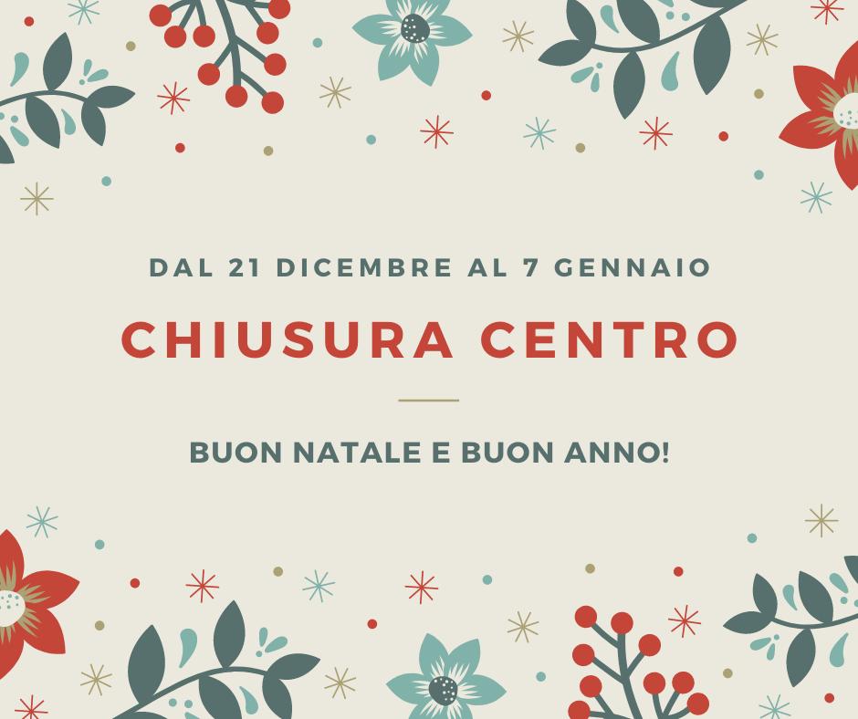 Chiusura del Centro per le festività.