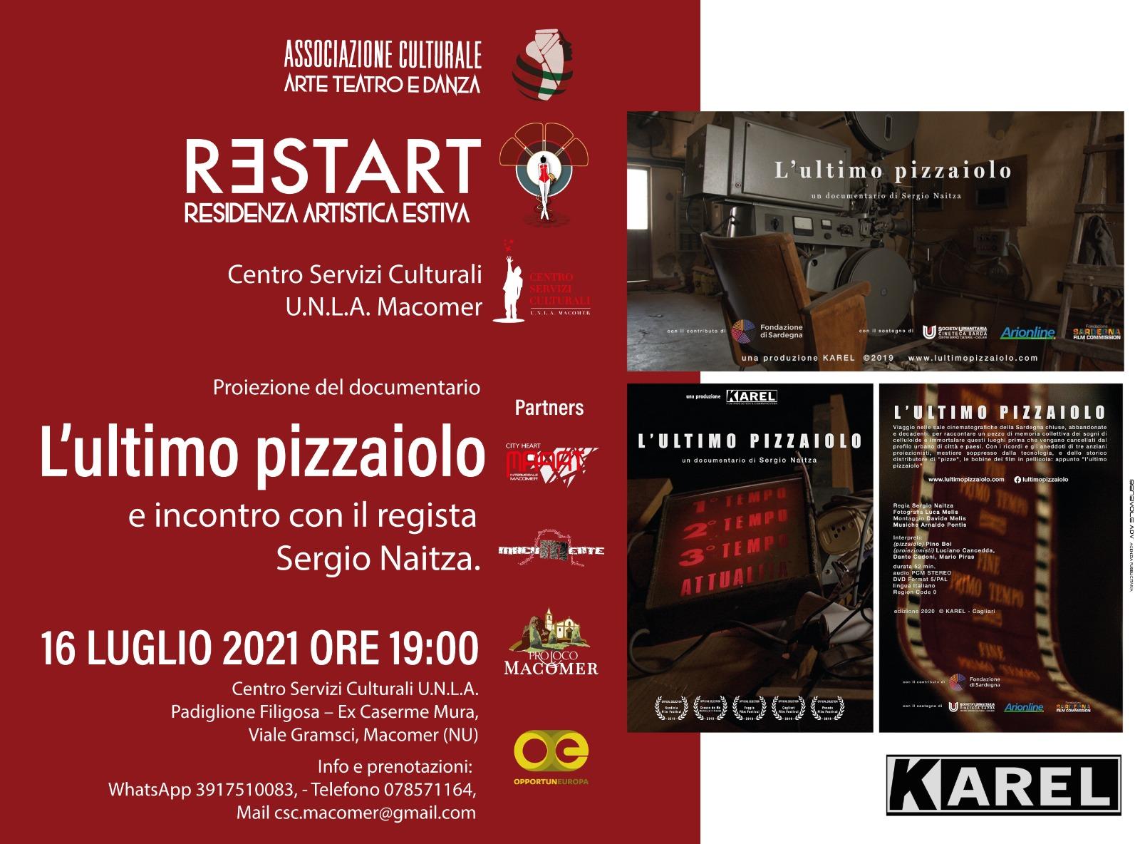 """Proiezione del documentario """"L'ultimo pizzaiolo"""" di Sergio Naitza"""