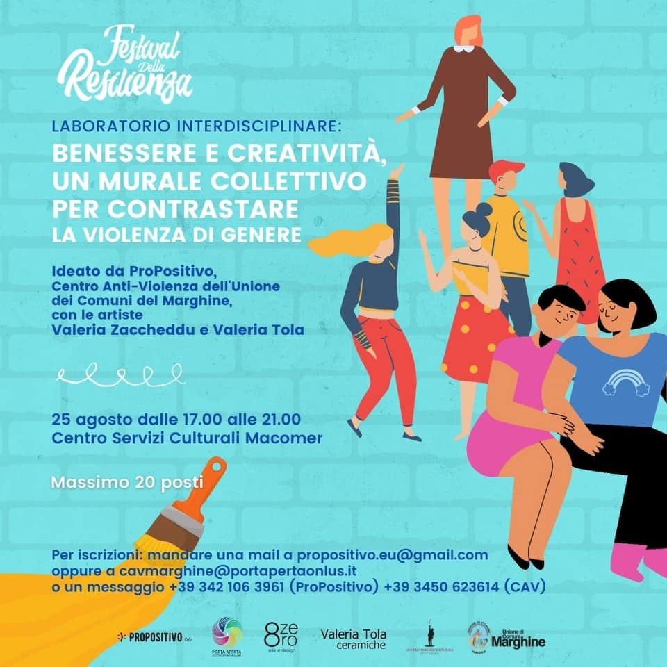 Benessere e creatività, un murale collettivo per contrastare la violenza di genere.