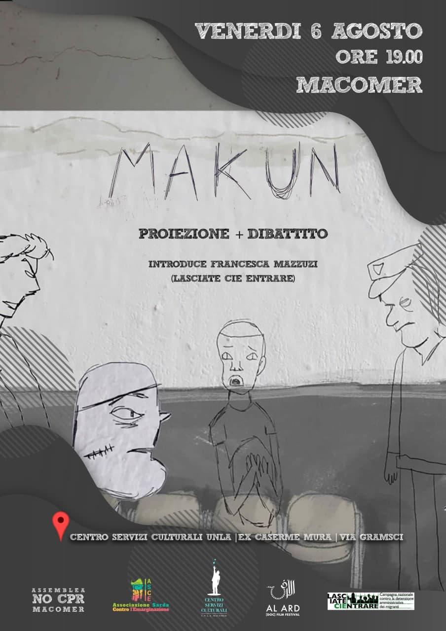 """Proiezione di """"Makun (No llores) – Dibujos en un C.I.E."""" di Emilio Martì Lopez"""