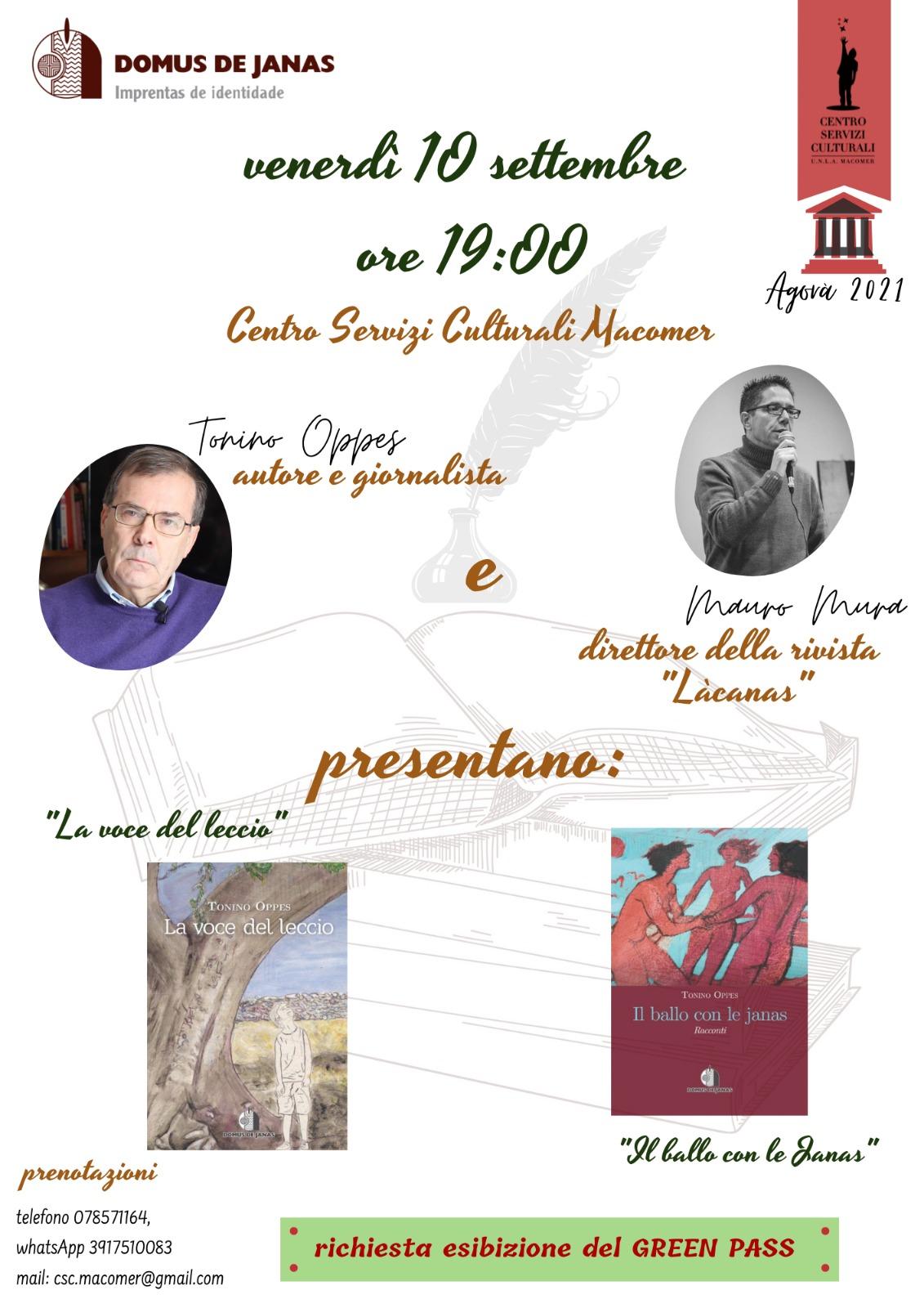 """Presentazione dei libri """"La voce del Leccio"""" e """"Il ballo con le Janas"""" di Tonino Oppes"""